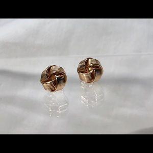Jewelry - 14Kt Rose Gold Twist Stud Earrings